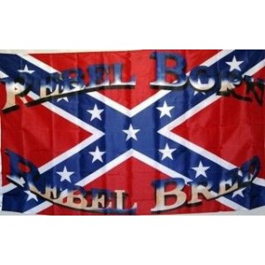 BORN AND BRED REBEL FLAG