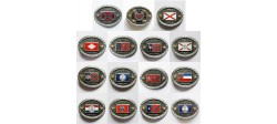 COLLECTION 15 BELT BUCKLES SOUTHERN STATES