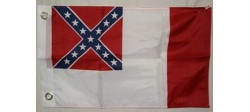 PETIT DRAPEAUX 3RD CONFEDERATE FLAG