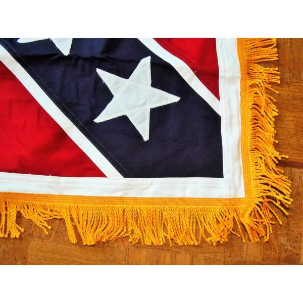 Artillery Gold Fringe Sleeve Flag Cotton Southern Style Shop