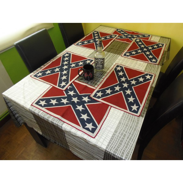 REBEL TABLE RUNNER u0026 PLACEMAT SET  sc 1 st  Southern Style Shop : table runner and placemat set - pezcame.com
